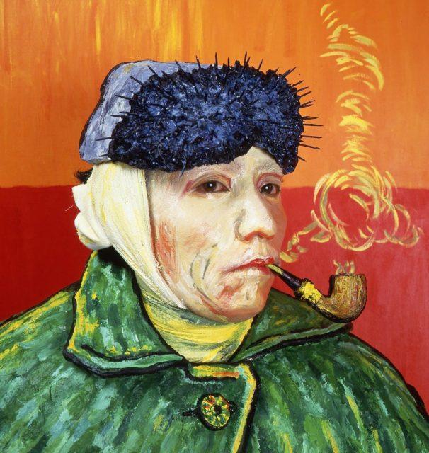 森村泰昌《肖像・ゴッホ》1985年