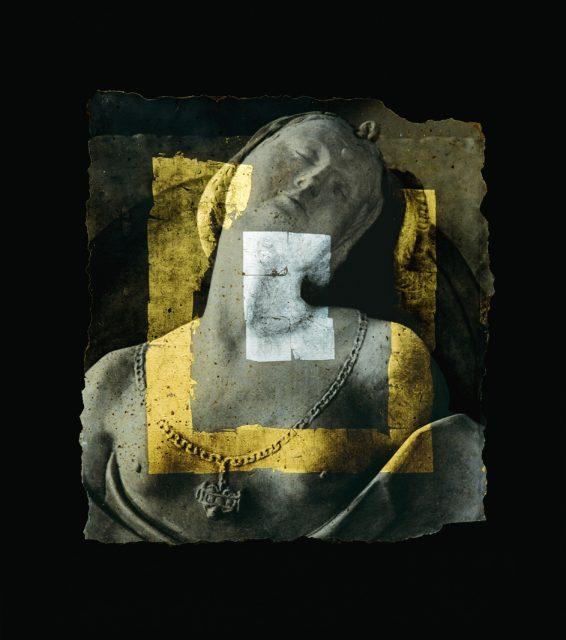 「トルソー」Emulsion photographique sur pierre, Feuilles d'or et de platine (石の上に写真乳剤、金箔やプラチナ) 100x100cm 1996