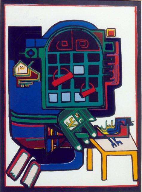 「サッガーハーネ」を代表するアーティスト、パルヴィーズ・タナーヴォリーの作品『Poet and Nightingale』(1974)