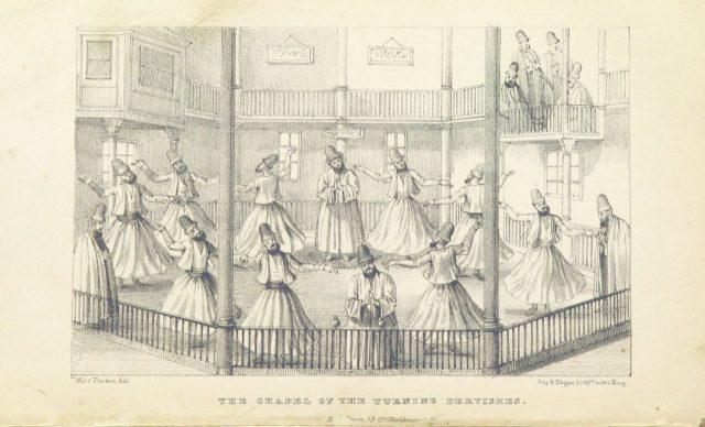 _The City of the Sultan ... Second edition_(Julia Pardoe, 1838).スーフィー教団が祈りの儀式として踊っている様子。_