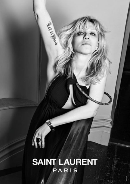 Courtney Love for Saint Laurent Music Project Photography Hedi Slimane