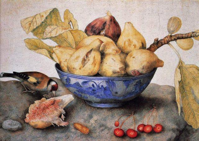文化財・文化活動省は、美術品に描かれた食材を〈2018年 イタリア食材の年〉のポスターとして使用している。17世紀の女流画家ジョヴァンニ・ガルツォーニの静物画も、このポスターとして使用されています。