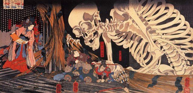 歌川国芳《相馬の古内裏》1845-1846頃
