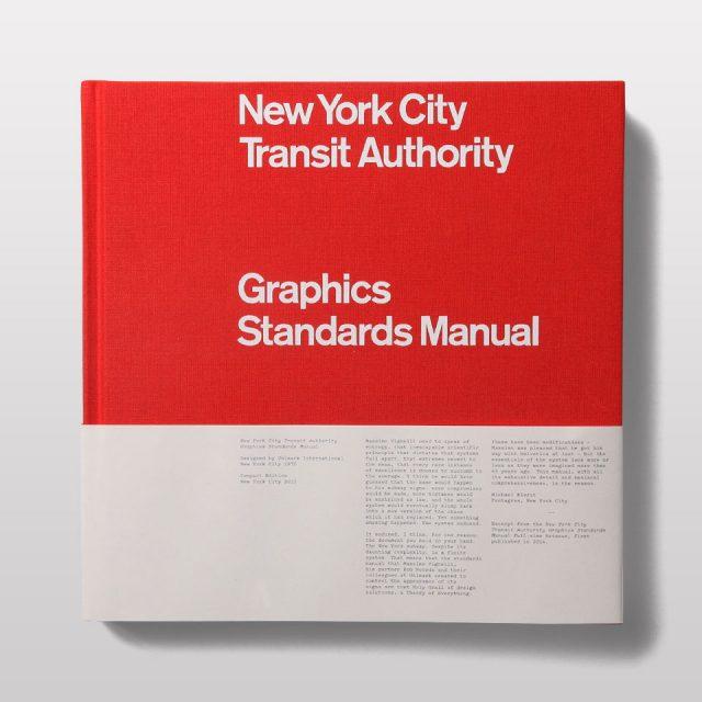 『NYCTA Graphics Standards Manual Compact Edition』 ニューヨークに訪れるとまず目につく地下鉄のサイン。そんなニューヨークのサインシステムのマニュアルの復刻版。パッケージ・デザインや家具、インテリアデザインまで幅広く手掛けたマッシモ・ヴィネッリとボブ・ノールダにより1964に開発された近代的なサインシステムは、世界中でファンが多いデザインの一つです。