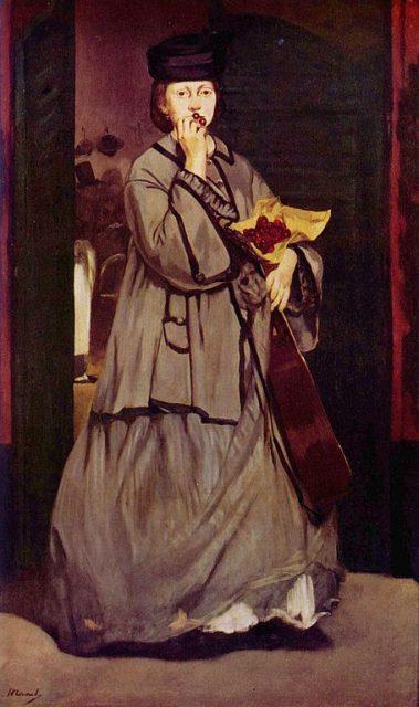 エドゥアール・マネ《Street singer》1862年、カンヴァスに油彩、174 × 118 cm、アメリカ、ボストン美術館