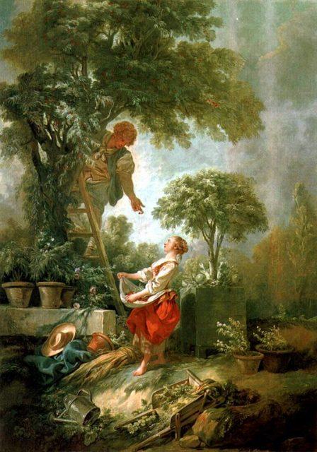 フランソワ・ブーシェ《The Cherry Gatherers》1768年、カンヴァスに油彩、イギリス、ケンウッド・ハウス