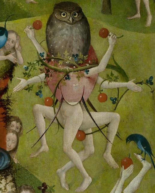 ヒエロニムス・ボス《The Garden of Earthly Delights(部分)》、1480~1490年(諸説あり)、220×389 cmタブローに油彩、スペイン、プラド美術館