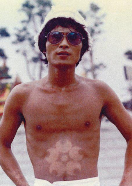 榎忠《裸のハプニング》1970年 撮影:米田定蔵  ©Chu Enoki
