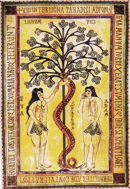 作者不詳《Codex Aemilianensis》、994年、スペイン、ミニアチュール、エル・エスコリアル修道院所蔵 By Anonymous [Public domain], via Wikimedia Commons