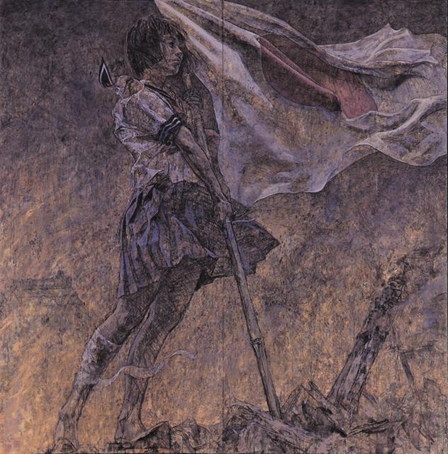 《美しい旗(戦争画RETURNS)》1995 撮影:宮島径 高橋コレクション蔵 (c) AIDA Makoto Courtesy Mizuma Art Gallery