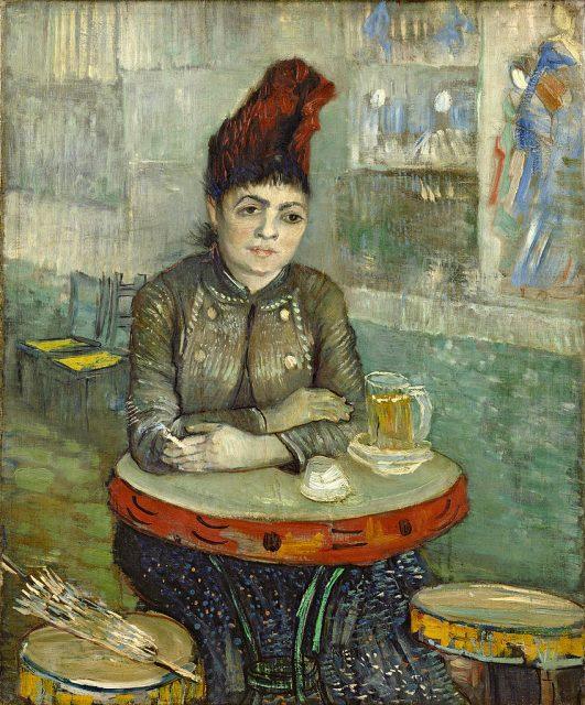 フィンセント・ヴィレム・ファン・ゴッホ《カフェ・タンブランの女》、1887年、キャンヴァスに油彩、55.5×46.5cm、オランダ、ゴッホ美術館蔵