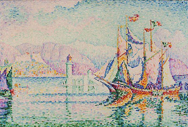 ポール・シニャック《Antibes - Morning》1914年、カンヴァスに油彩、80 × 120 ㎝、ワルシャワ、ワルシャワ国立美術館蔵