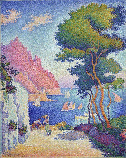 ポール・シニャック《Capo di Noli》1898年、カンヴァスに油彩、93.5×75 ㎝、ケルン、ヴァルラフ・リヒャルツ美術館蔵