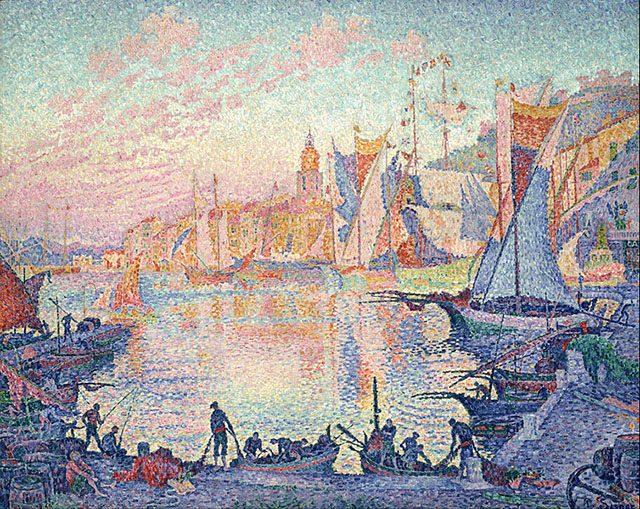 ポール・シニャック《サン=トロペの港》1901年、カンヴァスに油彩、131 x 161.5 cm、東京、 国立西洋美術館蔵