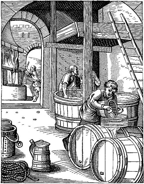 ヨースト・アンマン《The Brewer》16世紀のリトグラフより