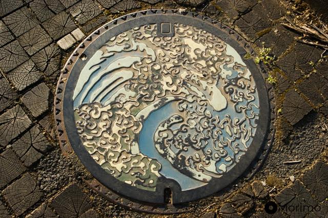 長野県小布施町(おぶせまち)の蓋(2010年5月撮影)